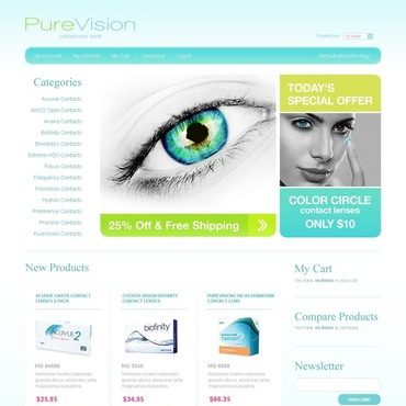Optometrist's Magento Theme