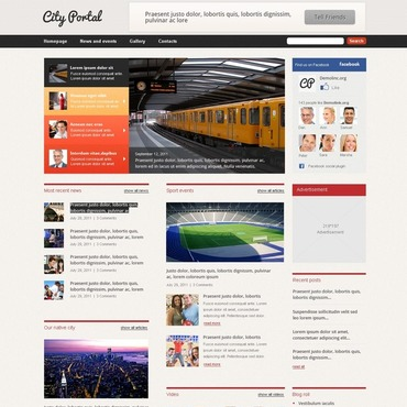 City Portal WordPress Theme