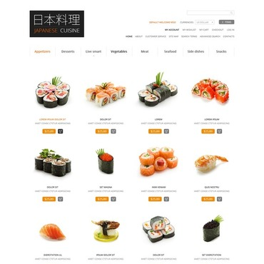 Japanese Restaurant Magento Theme