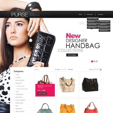 Handbag Flash CMS Template #38072