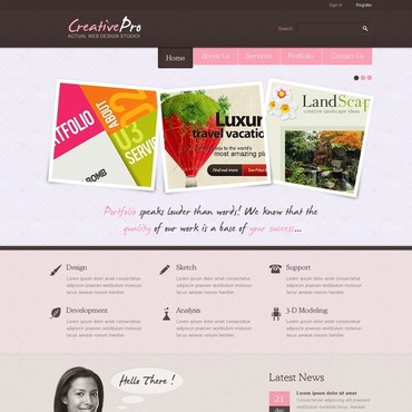 Design Studio Facebook Flash Template