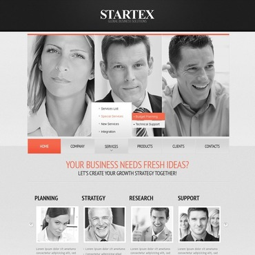 Business Facebook Flash Template