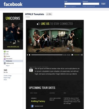 Music Facebook Template