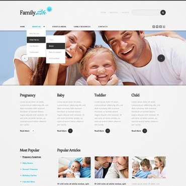Family Center Drupal Template