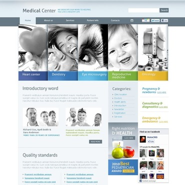 Medical Flash CMS Template #38700