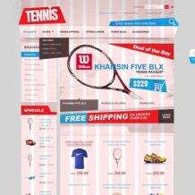 Tennis OsCommerce Template