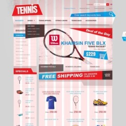 Tennis OsCommerce Template