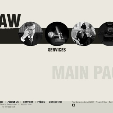 Law Flash CMS Template