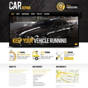 Car Repair Website Template