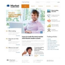 Business School Flash CMS Template