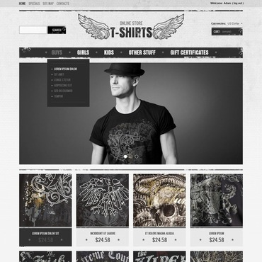 T-shirt Shop Magento Theme