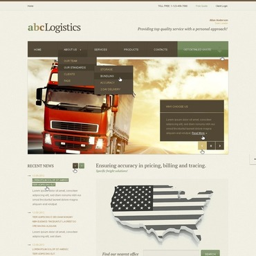 Trucking Website Template