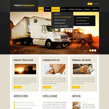 Transportation Flash CMS Template