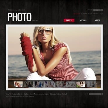 Stock Photo Magento Theme
