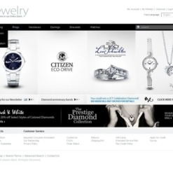 Jewelry Facebook Flash CMS Template