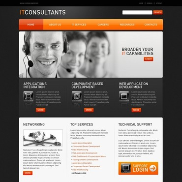 Communications Flash CMS Template
