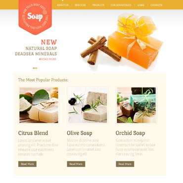 Cosmetics Store Website Template