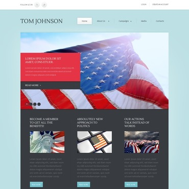 Political Candidate Website Template