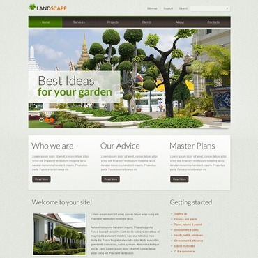 Landscape Design Responsive Website Template