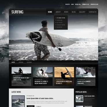 Surfing Responsive Drupal Template