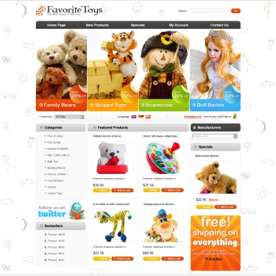 Baby Store Oscommerce Themes