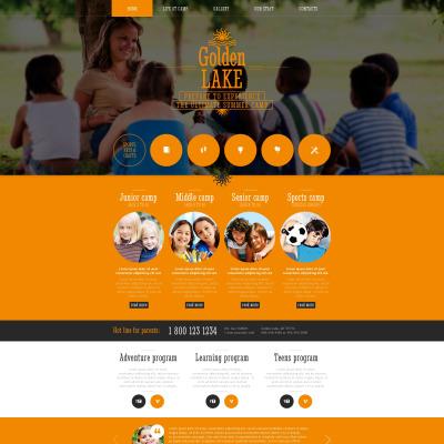 summer camp website templates