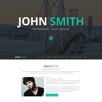 Joomla Template for Tattoo Artists