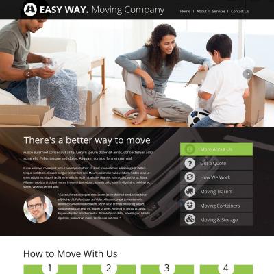 moving company website templates templatemonster. Black Bedroom Furniture Sets. Home Design Ideas