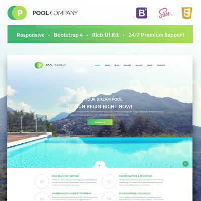 Swimming Pool Pool Cleaning Templates Templatemonster