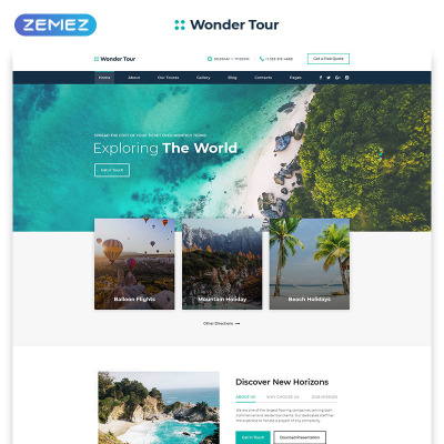 Travel Agency Responsive Template