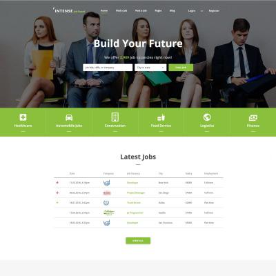 job portal templates  templatemonster job portal responsive website template