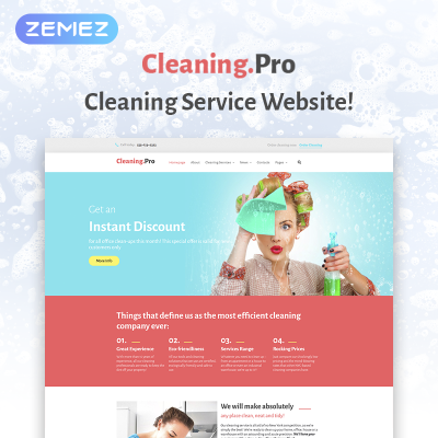 Cleaning & Maid Service WordPress Theme