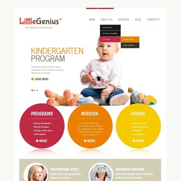 Kids Center Joomla Template