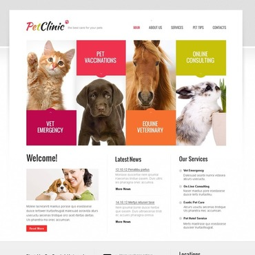 Vet Website Template