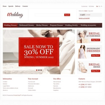 Wedding Shop PrestaShop Theme