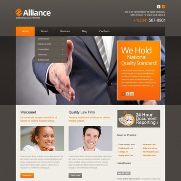 Law Firm WordPress Theme #40780