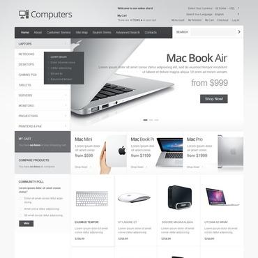 Desktop and Portable Computers Magento Theme #40848