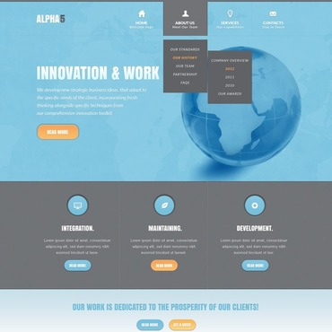 IT Website Template