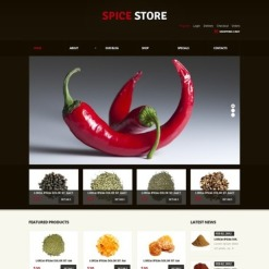 Spice Shop Responsive Jigoshop Theme