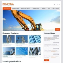 Industrial Facebook Flash CMS Template