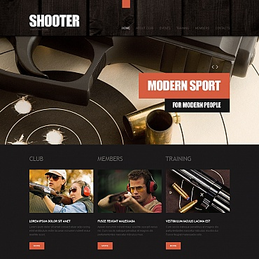 Shooting Moto CMS HTML Template