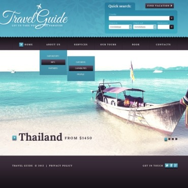 Travel Guide Website Template