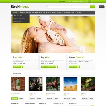 Stock Photo Responsive Magento Theme