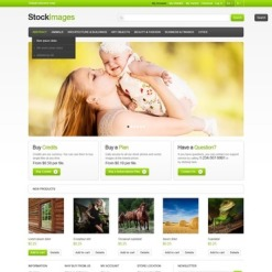 Stock Photo Responsive Magento Theme