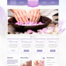 Nail Salon Responsive Website Template