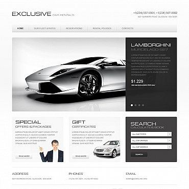Car Rental Moto CMS HTML Template #41732