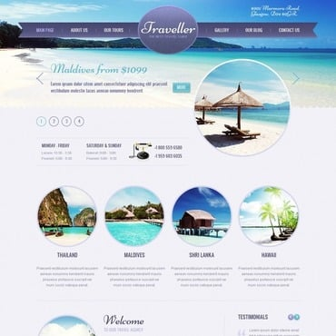 Travel Agency WordPress Theme