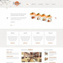 Japanese Restaurant Website Template