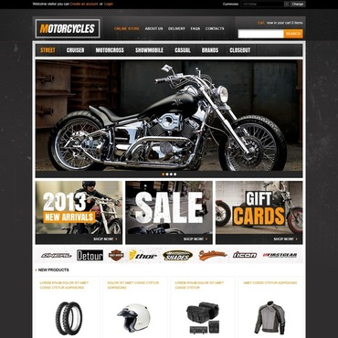 Bike Shop VirtueMart Template