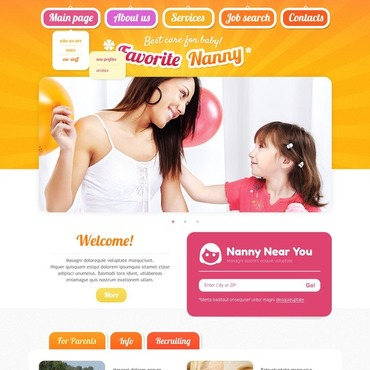 Babysitter Website Template